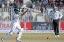 Babar Azam drives through the off side, Pakistan v Bangladesh, 1st Test, Rawalpindi, 2nd day, February 8, 2020
