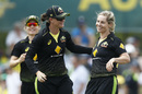 Sophie Molineux celebrates a wicket, Australia v England, T20I tri-series, Junction Oval, February 9, 2020