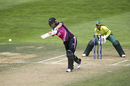Sophie Devine steps out to drive, New Zealand women v South Africa women, 3rd T20I, Wellington, February 9, 2020