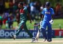Avishek Das celebrates Divyaansh Saxena's wicket, Bangladesh U-19s v India U-19s, Final, Potchefstroom, February 9, 2020