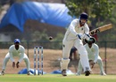 Venkatesh Iyer walks into the flick shot, Karnataka v Madhya Pradesh, Ranji Trophy 2019-20, Group B, Shimoga, February 6, 2020