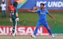 Ravi Bishnoi celebrates a wicket with gusto, Bangladesh U-19s v India U-19s, Final, Potchefstroom, February 9, 2020