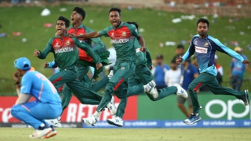 The Bangladesh players can't control their joy
