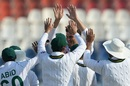 Shaheen Afridi sent back Mominul Haque early on the fourth day, Pakistan v Bangladesh, 1st Test, Rawalpindi, 4th day, February 10, 2020