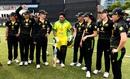 Sachin Tendulkar walks out to face one over against Australia Women's side, Gilchrist XI v Ponting XI, Melbourne, February 9, 2020
