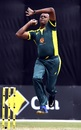 Courtney Walsh bowls during the Bushfire Bash game, Gilchrist XI v Ponting XI, Melbourne, February 9, 2020