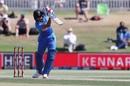 Shreyas Iyer demonstrates the perfect straight drive, New Zealand v India, 3rd ODI, Mount Maunganui, February 11, 2020