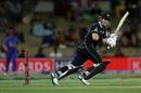 Henry Nicholls turns it down the leg side, New Zealand v India, 3rd ODI, Mount Maunganui, February 11, 2020