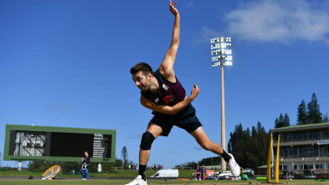 Mark Wood training ahead of the first T20 International against South Africa