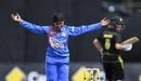 Rajeshwari Gayakwad was among the wickets again, Australia v India, women's T20I tri-series final, Melbourne, February 12, 2020