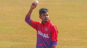 Sandeep Lamichhane set up Nepal's win with a six-wicket haul