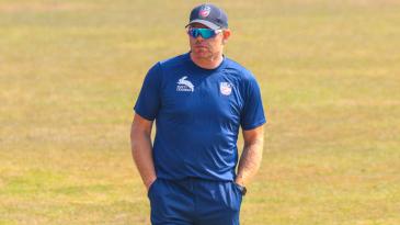 Interim coach James Pamment surveys the scene after a grim defeat