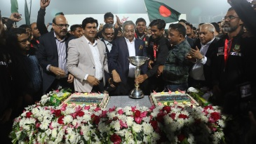 Bangladesh's Under-19 stars received a rousing welcome