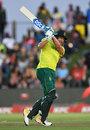 David Miller pulls through the leg side, South Africa v England, 1st T20I, East London, February 12, 2020