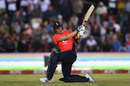 Jason Roy slog-sweeps over the leg side, South Africa v England, 1st T20I, East London, February 12, 2020