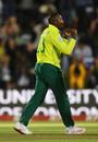 Andile Phehlukwayo celebrates dismissing Jonny Bairstow , South Africa v England, 1st T20I, East London, February 12, 2020