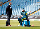 Ricky Ponting chats to Steven Smith during the Ashes, England v Australia, 3rd Test, Headingley, August 25, 2019