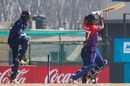 Paras Khadka punches one off the back foot, Nepal v USA, Men's CWC League 2, Kirtipur, February 12, 2020