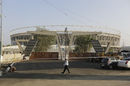 The newly-built stadium in Ahmedabad a few days before its inauguration, Ahmedabad, February 12, 2020