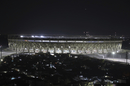 An illuminated view of the new stadium in Ahmedabad, Ahmedabad, February 12, 2020