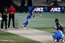 Yuzvendra Chahal bowls to Henry Nicholls, New Zealand v India, 3rd ODI, Mount Maunganui, February 11, 2020