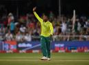 Andile Phehlukwayo celebrates a wicket, South Africa v England, 2nd T20I, Durban, February 14, 2020