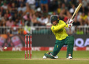 Rassie van der Dussen kept the chase alive, South Africa v England, 2nd T20I, Durban, February 14, 2020
