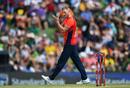 Ben Stokes celebrates his breakthrough, South Africa v England, 3rd T20I, Centurion. February 16, 2020