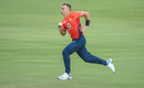 Tom Curran runs in to bowl, South Africa v England, 3rd T20I, Centurion. February 16, 2020