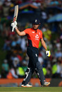Jonny Bairstow celebrates his fifty, South Africa v England, 3rd T20I, Centurion, February 16, 2020