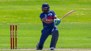 Srini Salver bats during a USA regional trial in Illinois