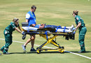Achini Kulasuriya is stretched off the field, South Africa v Sri Lanka, T20 warm-up match, Karen Rolton Oval, February 17, 2020