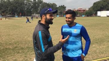 Parvez Rasool and Karun Nair share a lighter moment