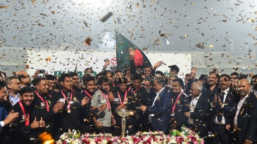 Bangladesh's world champions were given a snazzy reception in Dhaka
