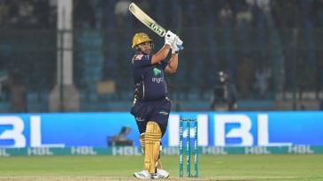 Azam Khan smacks a pull shot