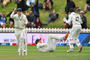 Ross Taylor takes the catch that saw the end of Virat Kohli on day one in Wellington, New Zealand v India, 1st Test, Wellington, 1st day, February 21, 2020