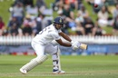 Mayank Agarwal drives away from his body, New Zealand v India, 1st Test, Wellington, 1st day, February 21, 2020