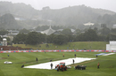 The rain comes down at the Basin Reserve, New Zealand v India, 1st Test, Wellington, 1st day, February 21, 2020
