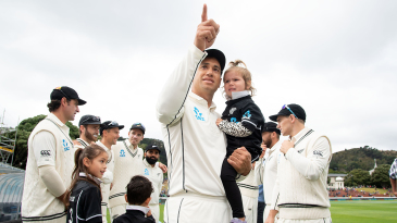 Ross Taylor has a moment with his kids ahead of his 100th Test
