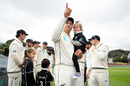 Ross Taylor has a moment with his kids ahead of his 100th Test, New Zealand v India, 1st Test, Wellington, 1st day, February 21, 2020