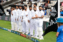 The Indian team lines up ahead of the Wellington Test, New Zealand v India, 1st Test, Wellington, 1st day, February 21, 2020