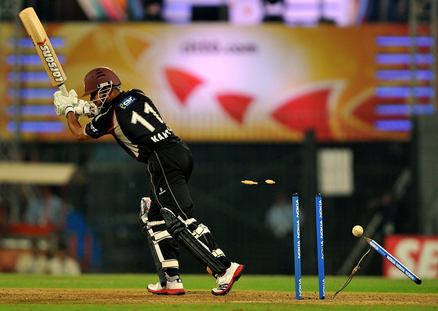 In the space of an over, Somerset went from 141 for 3 to 147 for 7 in the Champions League final of 2011