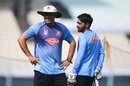 Russell Domingo and Mominul Haque have a chat while training, Kolkata, November 20, 2019