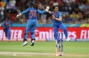 Poonam Yadav celebrates, Australia v India, women's T20 World Cup, Sydney, February 21, 2020