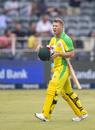 David Warner walks off after being dismissed, South Africa v Australia, 1st T20I, Johannesburg, February 21, 2020