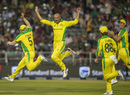 Ashton Agar took a hat-trick, South Africa v Australia, 1st T20I, Johannesburg, February 21, 2020