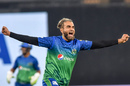 Imran Tahir celebrates a wicket in trademark fashion, Lahore Qalanders vs Multan Sultans, Pakistan Super League, Lahore, February 21, 2020