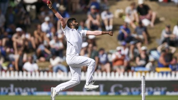 Jasprit Bumrah in his pre-delivery stride