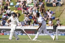 Kane Williamson watches it out of R Ashwin's hand even when at the non-striker's end, New Zealand v India, 1st Test, Wellington, 2nd day, February 22, 2020