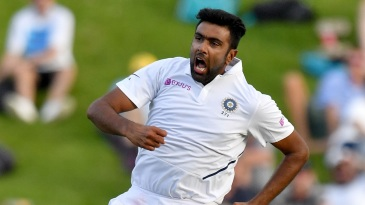 R Ashwin is pumped after sending back Henry Nicholls